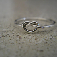 Sterling Silver Love Knot Ring Love Ring Friendship Ring