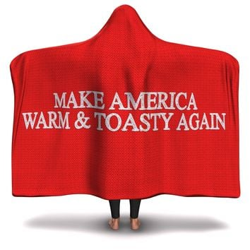 Hooded Blanket All-Over 24th  Design Make America Great Again