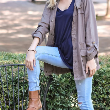 Go with the Flow Olive Jacket
