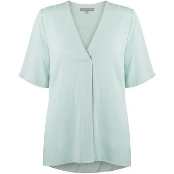Mint Mint V-Neck Top | Oliver Bonas