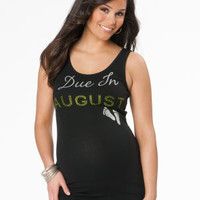 Due In ... Maternity Tank Top