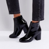 RAID Rapple Patent Heeled Ankle Boots at asos.com
