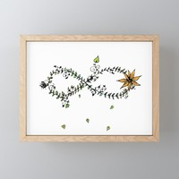 Nature's Infinite Framed Mini Art Print by duckyb