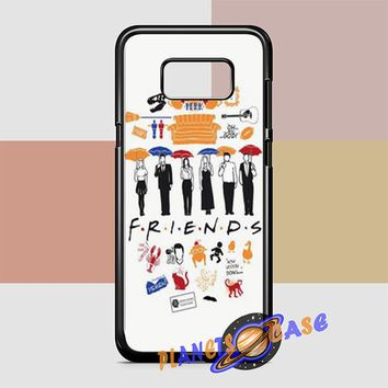FRIENDS Collage Drawing Samsung Galaxy S8 Plus Case Planetscase.com