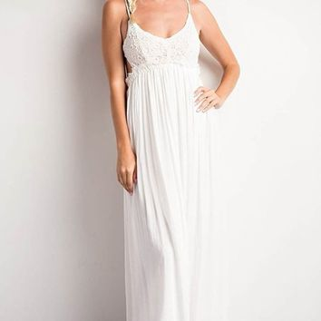 Something Special Crochet Maxi Dress (Multiple Colors)