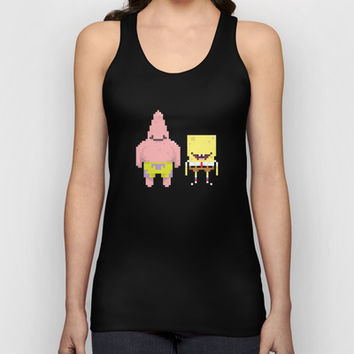 A Sponge & Starfish Unisex Tank Top by lovemi
