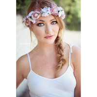 Flower Crown-Halo-Bohohemian-Blush
