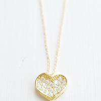 Small Heart Necklace, Delicate Gold Necklace, Bridesmaids Gifts,  Love