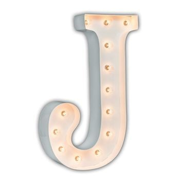 "24"" Letter J Lighted Marquee Letters (White Gloss)"