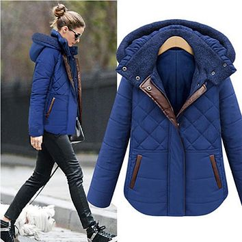 2017 Winter Women Down Top Jacket 2xl Size Female Fashion Coat Thicken Hooded Collar Outerwear Long Sleeve Casual Jackets