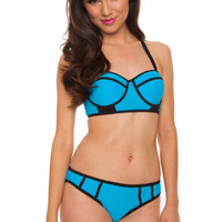 Marisol Bathing Top - Blue