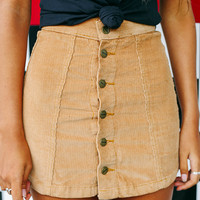 Jawbreaker Corduroy Skirt - Light Tan