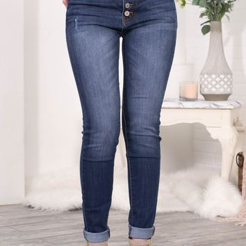 Jolie Dark Wash Skinny Denim