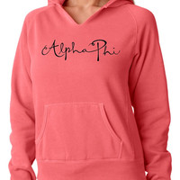 ALPHA PHI hoodie Comfort Colors Crewneck Nice Quality Comfortable Golden Youth Clothing Seaside Apparel Inspired Cheap Comfort Colors
