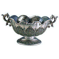 Silver Persian Bowl With Balls