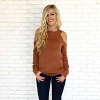 Rustic Comfort Sweater Top in Rust