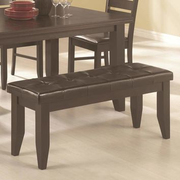 Comfy Wooden Dining Bench, Cappuccino Brown