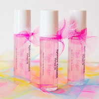 Pink Sugar Perfume Oil Roll On Fragrance Cotton Candy Musk Glitter 7ml Glass Bottle Vegan
