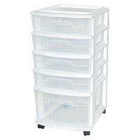 Room Essentials 5-Drawer Medium Cart - White