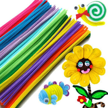 50pcs Plush Pipe Cleaners