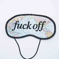 F*ck Off Map Eye Mask - Urban Outfitters