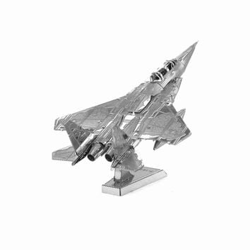 Finger Rock 3D Puzzle Metal DIY F15 Fighter Military AirplaneMass Effect World's Famous Building Model Gift Toys Mini Jigsaws