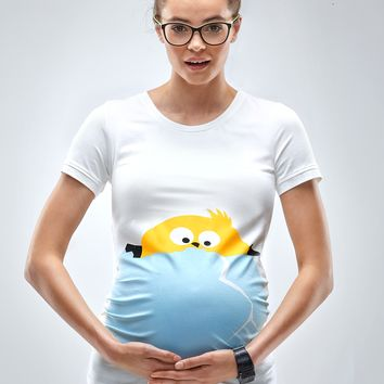 Peek A Boo Chicken Maternity T-Shirt