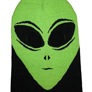 Hollywood Mirror Alien Ski Mask Knit Hat