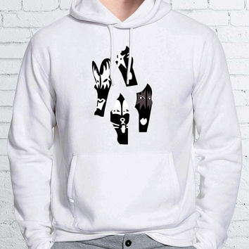 Kiss Members Art Unisex Hoodies - ZZ Hoodie