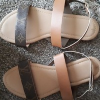 Louis Vuitton reworked ladies sandals size uk6 US8 EU39
