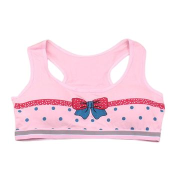 1PC Teenage Girls Cute Printing Underwear Cotton Bra top For Kids Girls Children Young Small Bra Tube Top Teens Undies Puberty