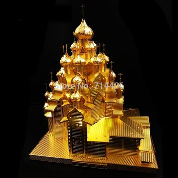 classic toy Building model DIY metal iron toys Russia The Church of the Transfiguration 3D puzzle Laser Cut Jigsaw toys