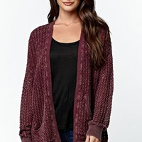 LA Hearts Drop Shoulder Cardigan - Womens Sweater