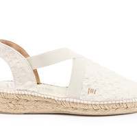 Cadaques Espadrille Wedges - Bubble Ivory