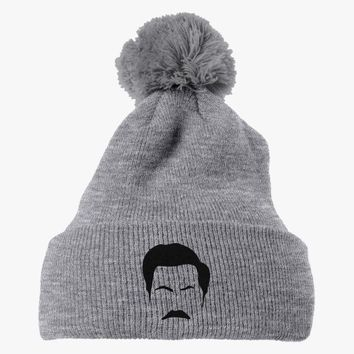 Ron Swanson Embroidered Knit Pom Cap