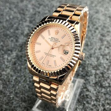 ROLES New fashion gear rack round shell couple watch