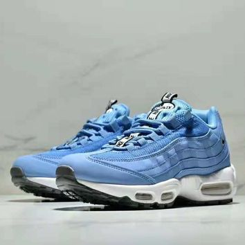 NIKE AIR MAX 95 2018 autumn and winter models wear-resistant non-slip shock absorption casual running shoes blue