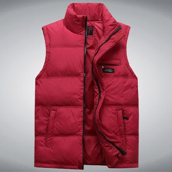 Brieuces Middle-aged men fall and winter down vest