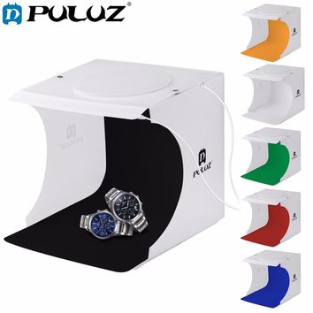 "PULUZ 8""2LED Panels Folding Portable Photo Video Box Lighting Studio Shooting"