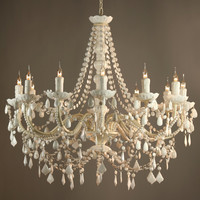 Mimi White 12-Arm Chandelier