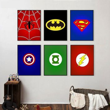 Batman Dark Knight gift Christmas Superhero Avenger Batman Spiderman Canvas Painting For Kids Boy Room Colorful Art Print Poster Wall Pictures Child Bedroom Decor AT_71_6