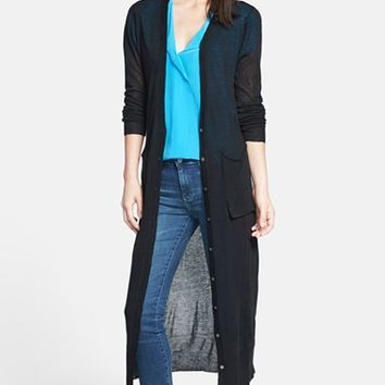 Women's Coin 1804 Long Cotton Blend Duster Cardigan,