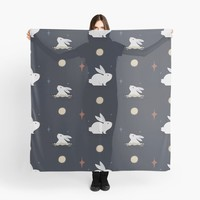 'Bunnies on the Moon' Scarf by lalainelim