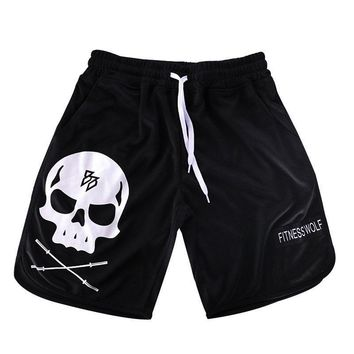 Polyester breathable and quick-drying skull print Large size shorts M-5XL