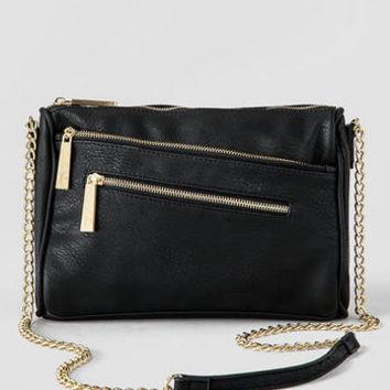 VIOLET RAY ANGLE ZIPPER CROSSBODY