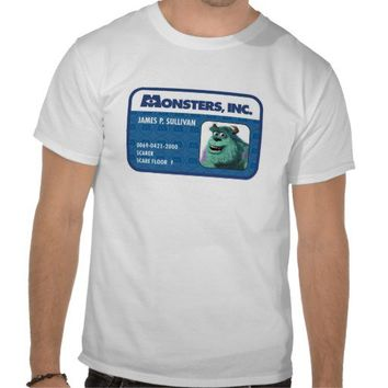 Monsters Inc. Sulley ID card T Shirts from Zazzle.com