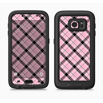 The Pink & Black Plaid Full Body Samsung Galaxy S6 LifeProof Fre Case Skin Kit