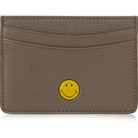 Anya Hindmarch - Smiley textured-leather cardholder