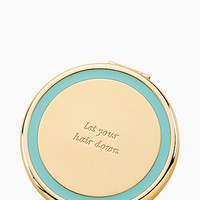Kate Spade Holly Drive Let Your Hair Down Compact Turquoise ONE