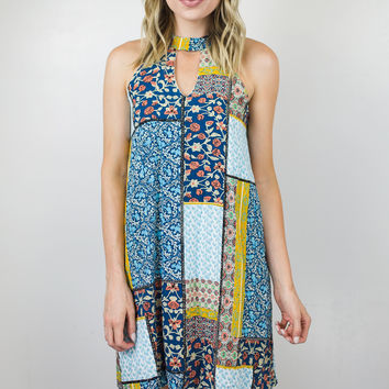 Picnic Patch Keyhole Dress